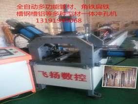河北飞扬数控主打精品全自动多功能QZDCK-SB006型多种型材一体冲孔机