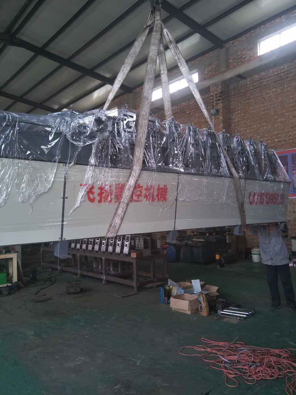 沧州鑫飞扬带钢法兰机压型冲孔卷圆切断一次完成厂家直销